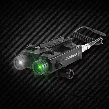 LASERSPEED 5mw Military Green Laser Anblick Dual Strahl Grün Laser und Infrarot IR Laser Gewehr Tactical Laser Pointer Für AR15 AK47