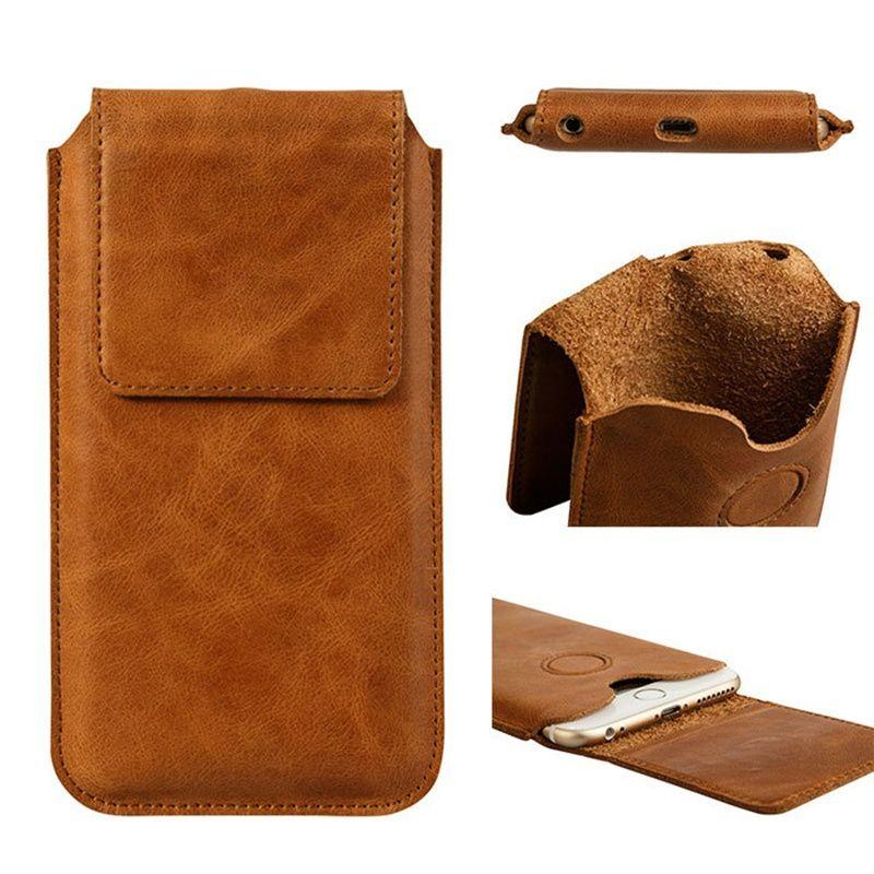 Jisoncase чехол для телефона iPhone 6 6 Plus сумка Пояса из натуральной кожи для iPhone 6S 6S плюс рукава чехол Магнитная Синтетическое закрытие волос fundas