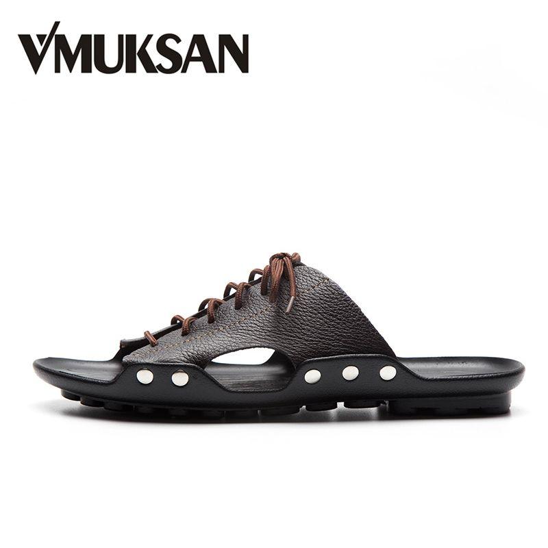 VMUKSAN Производитель мужская тапочки 2017 новый шлепанцы мужские воздухопроницаемый Спилка мужская обувь Лето сабо