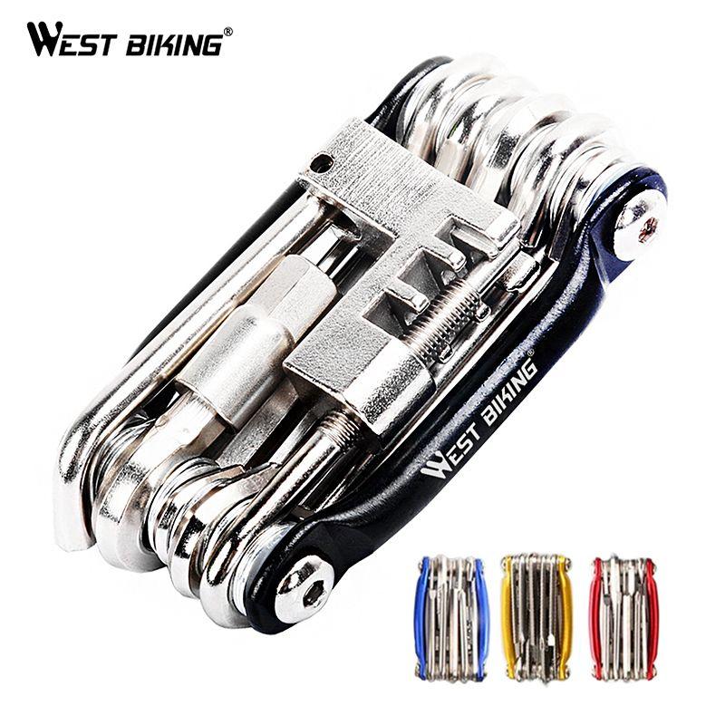 Multifunction Bicycle Bike Repair Tools Steel 11 in 1 Kit Herramientas Bicicleta Cycling Folding Wrench Ferramentas Bike Tools