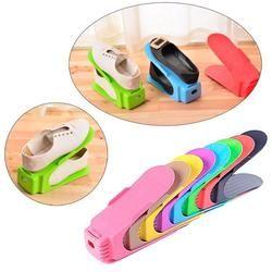 Pantalla multicolor estante Zapatos sapateira organizador ahorro de espacio plástico almacenamiento rangement chaussures de zapatos # TX4