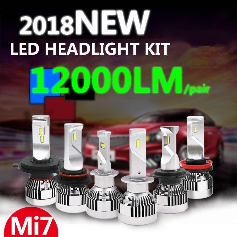 2PCS Mini H4 led H7 canbus led H8 H11 120W 12000lm 6500K Blanc 9005 HB3 9006 Anti EMC Error free Car Led Headlight faro 12V 24V