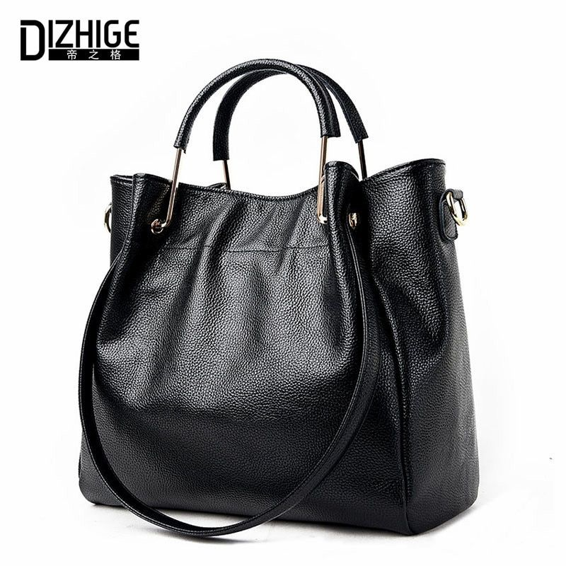 DIZHIGE Brand 2017 New Genuine Leather Bags Women High Quality Sheepskin Women Handbags Designer Shoulder Bags Ladies Sac Femme