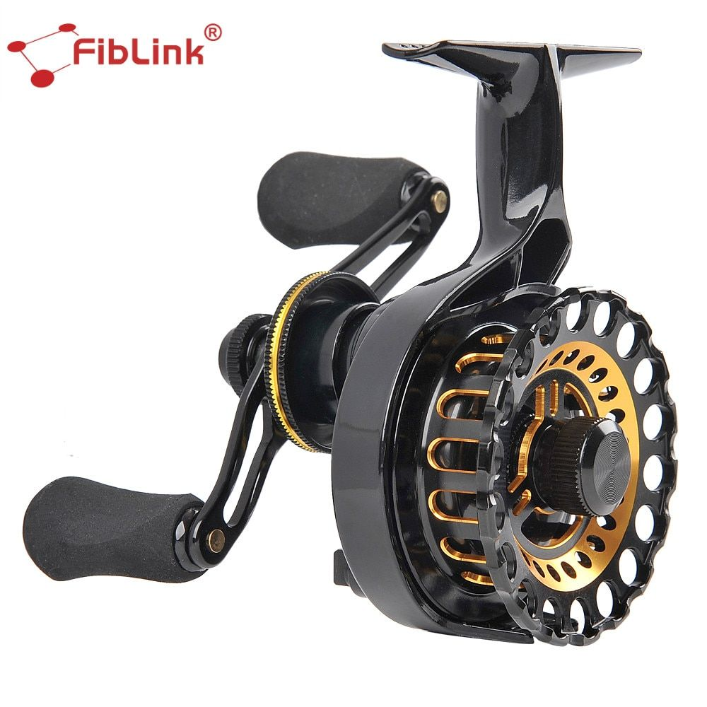 Fiblink High Speed 2.7:1 Inline Ice Fishing Reel 4+1 BBs Right Handed Fishing Raft Wheel Ice Reels Fishing Tackle Holiday Sale