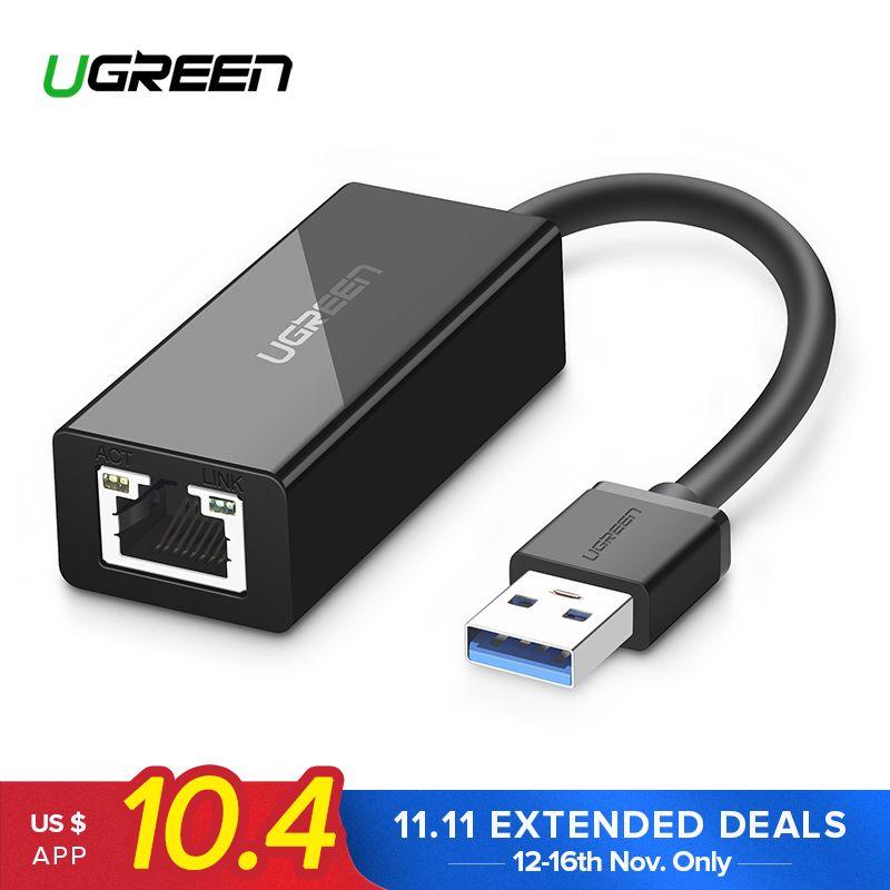 Ugreen USB Ethernet Adapter USB 3.0 2.0 <font><b>Network</b></font> Card to RJ45 Lan for Windows 10 Xiaomi Mi Box 3 Nintend Switch Ethernet USB