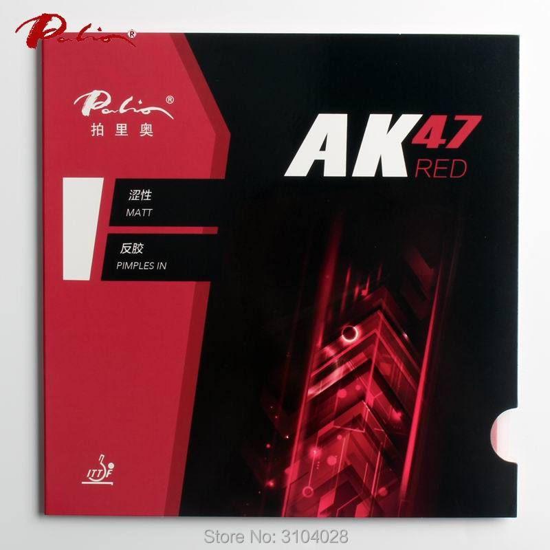 Palio officiel 40 + rouge Ak47 ping-pong en caoutchouc éponge rouge pour la boucle et attaque rapide nouveau style pour raquette jeu de ping pong