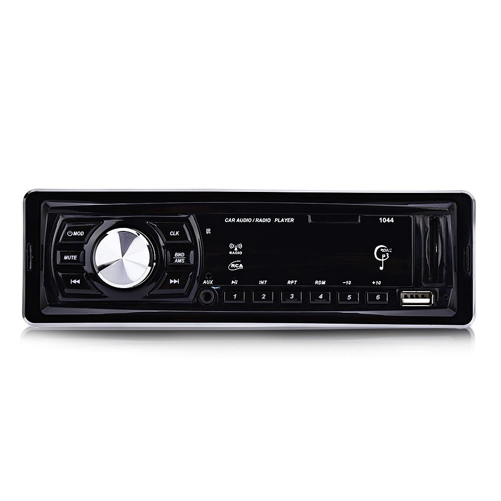 1044 Car Radio Player Stereo Audio Car MP3 Player DC 12V LED Display FM Receiver Remote Control 4 x 50W Support SD USB AUX