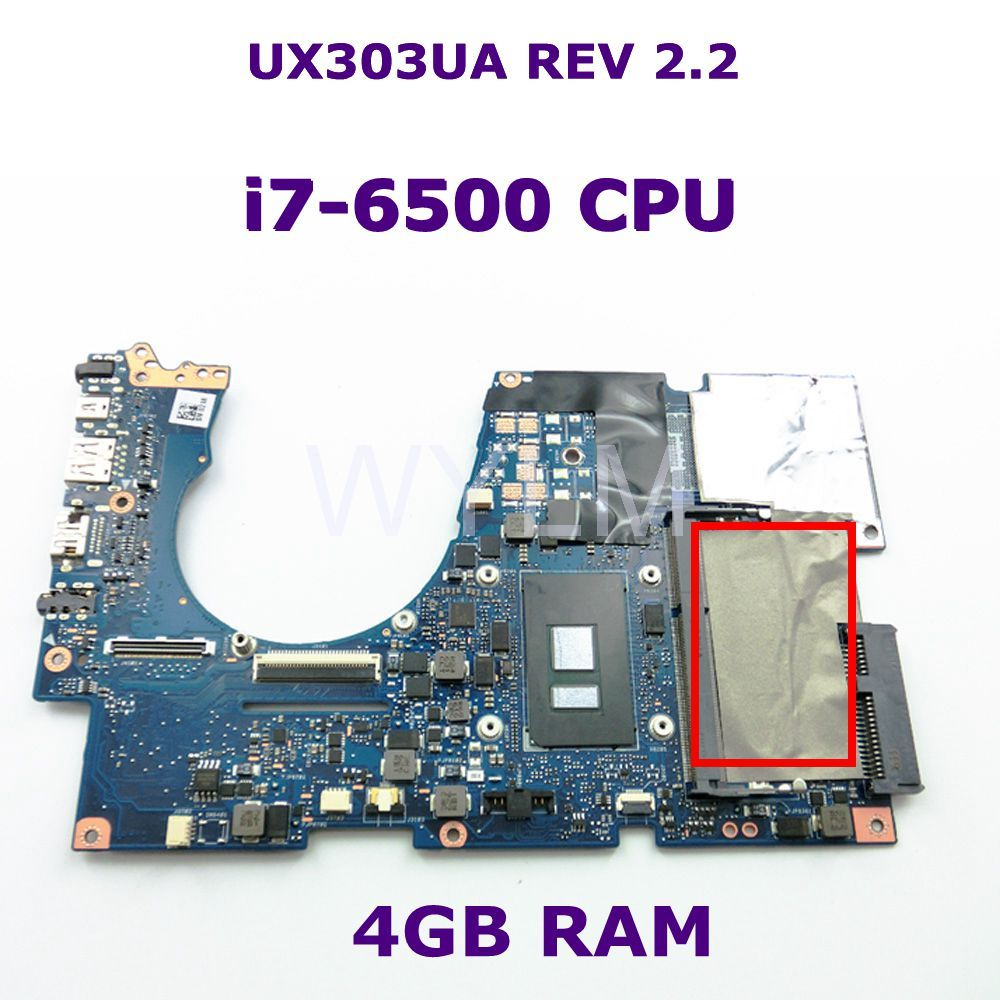UX303UA With i7-6500 CPU DDR3L 4GB RAM mainboard REV 2.2 For ASUS UX303U UX303UA UX303UB laptop motherboard Tested free shipping