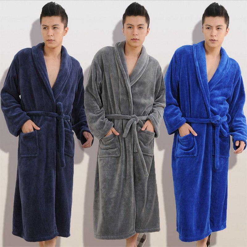 2017 Winter Autumn thick flannel men's women's Bath Robes gentlemen's homewear male sleepwear lounges pajamas pyjamas