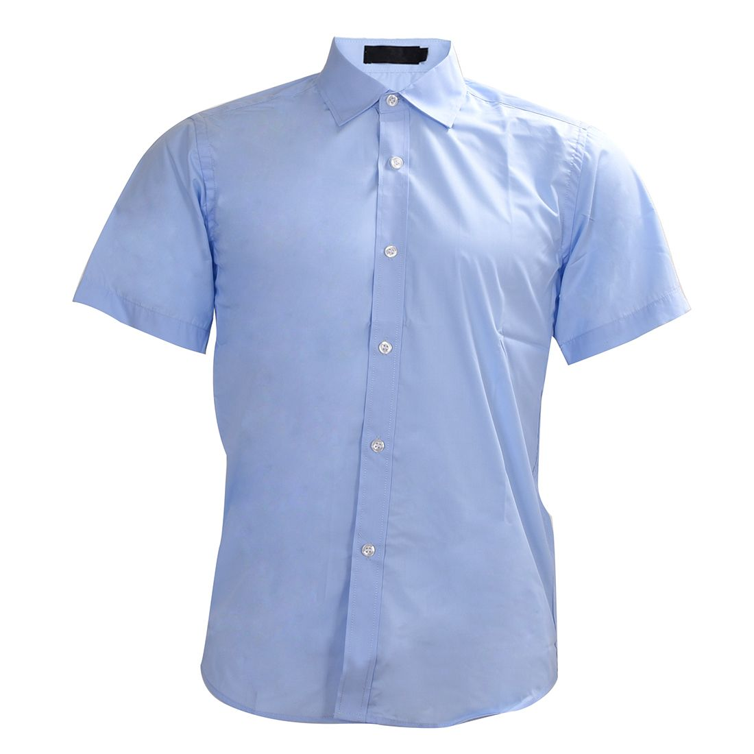 New fashion men shirt kurzarm männer shirts sommer shirts himmelblau M