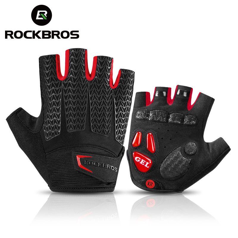 ROCKBROS gants de cyclisme vtt gants de route VTT demi doigt gants hommes été vélo Gym Fitness gants de sport antidérapants
