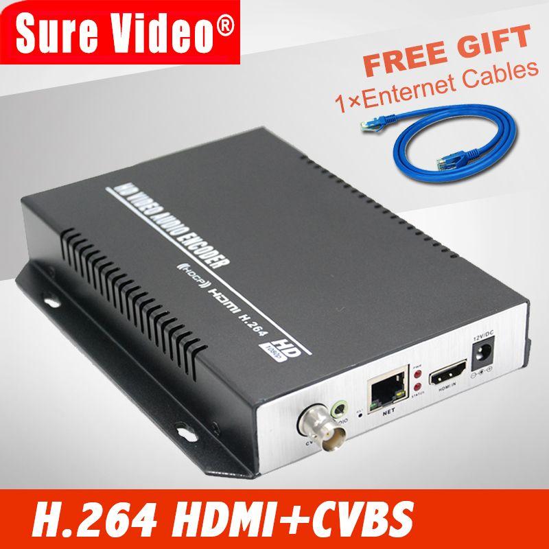 Лидер продаж CVBS и HDMI encoder + аудио по IP поток MPEG4/H.264 кодер Wi-Fi для Live Streaming IPTV вещания
