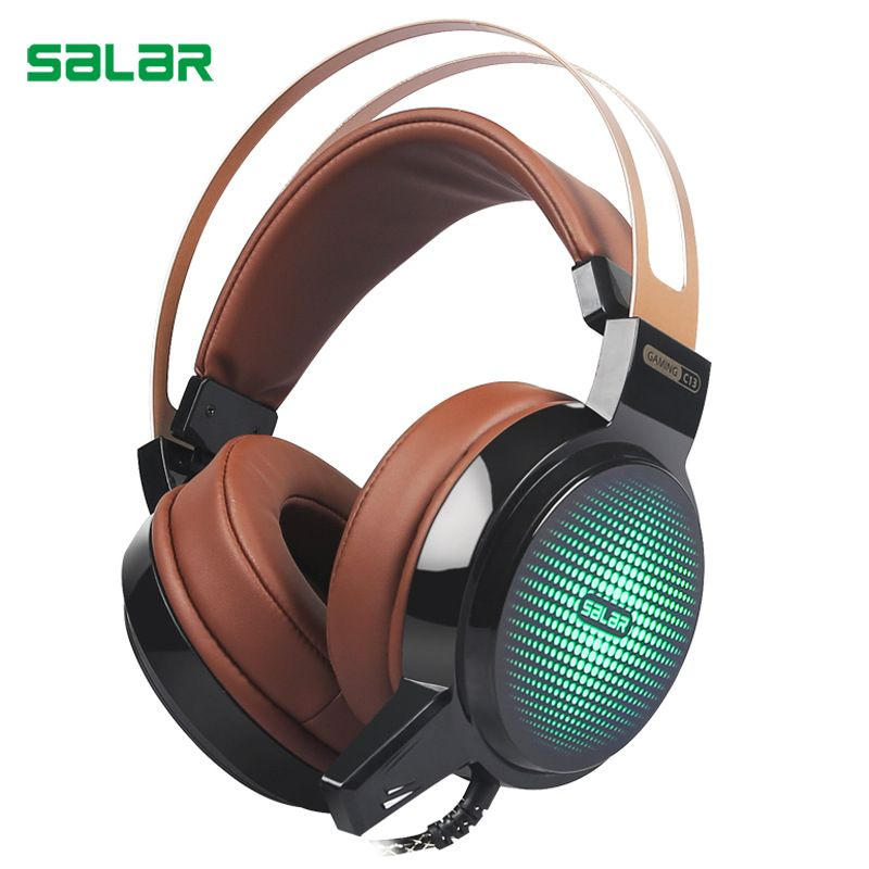 ihens5 Salar C13 Gaming Headset Deep Bass Game Headphone <font><b>Best</b></font> casque Gamer with Microphone LED Light Headphones for Computer PC