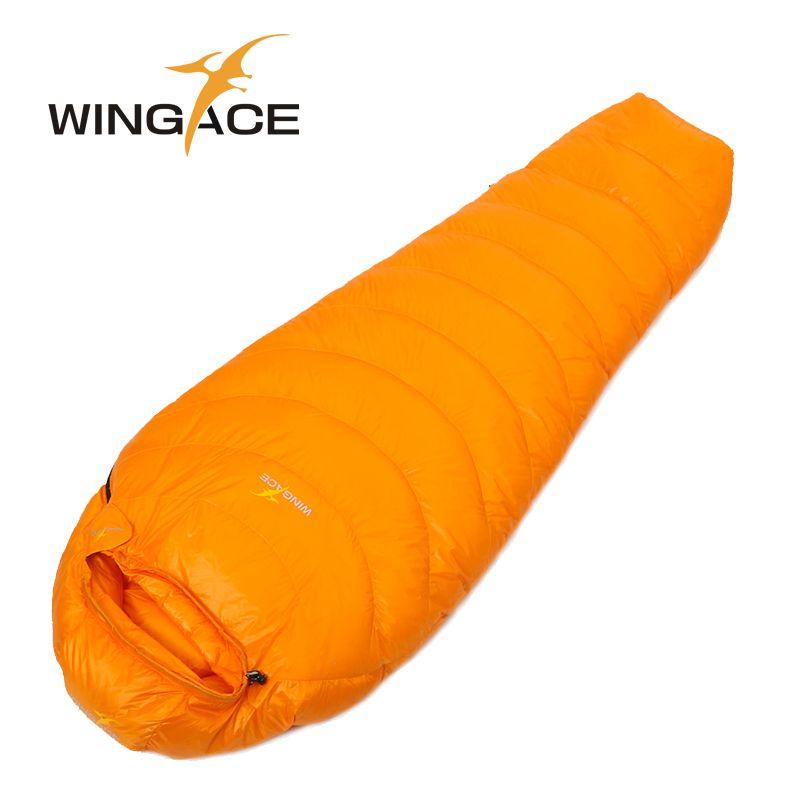 WINGACE Füllen 1000G daunenschlafsack erwachsene mumie ultraleicht hike winter outdoor-ausrüstung camping schlaf taschen benutzerdefinierte
