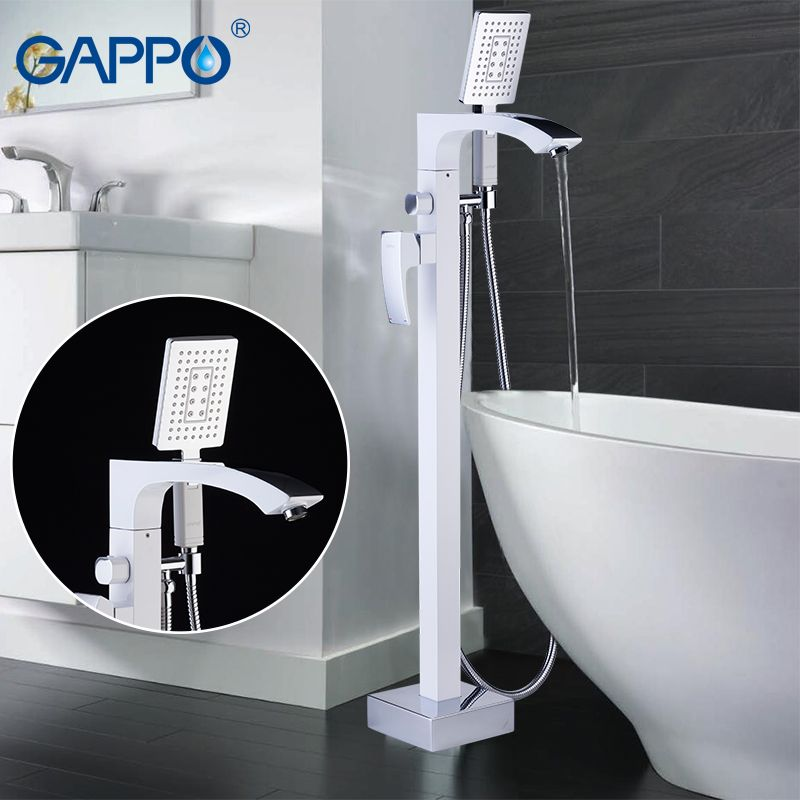 GAPPO free standing bathtub faucet mixer taps faucet bath mixer shower waterfall bath faucet bathroom bathtub shower rainfall