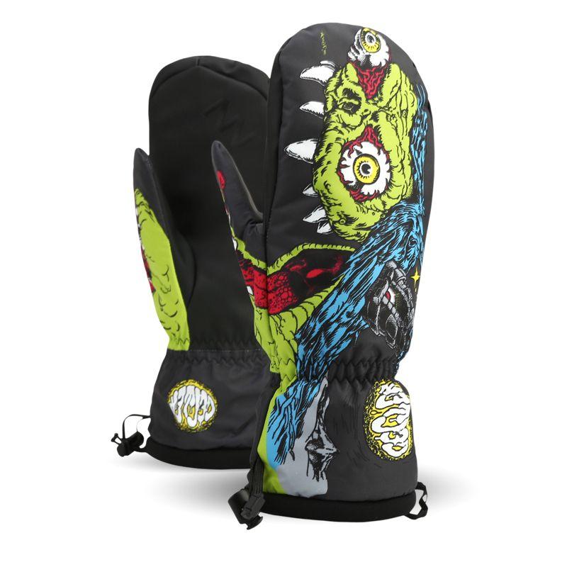 Multi farben Winter professionelle snowboard handschuhe cartoon muster Winddicht wasserdicht ski handschuhe outdoor thermische schneeschuhe