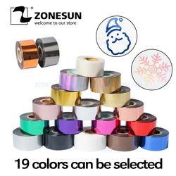 ZONESUN FREE SHIPPING Rolls Hot Foil Stamping Paper Heat Transfer Anodized Gilded Paper for Leather PU Wallet Hot foil stamping