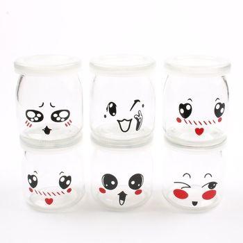 6 pièce 200 ML tasse de yogourt tasse d'emballage en verre tasse avec couvercle bouche yogourt machine liner accessoires 6 pièce anti-fuite