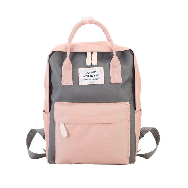 Femmes toile sacs à dos couleur bonbon imperméable sacs d'école pour adolescents filles grand mignon sac à dos pour ordinateur portable Patchwork Kawaii sac à dos