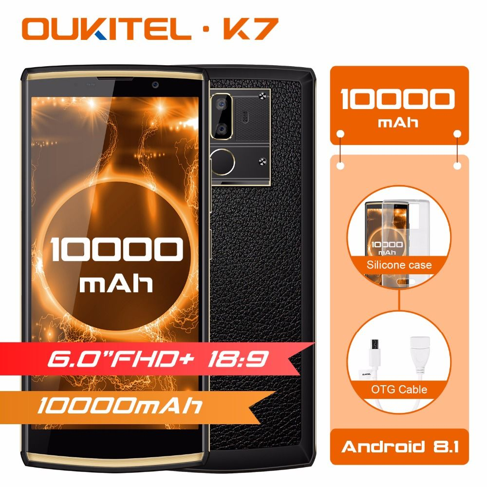 Original OUKITEL K7 10000mAh 4G Mobile Phone 6.0