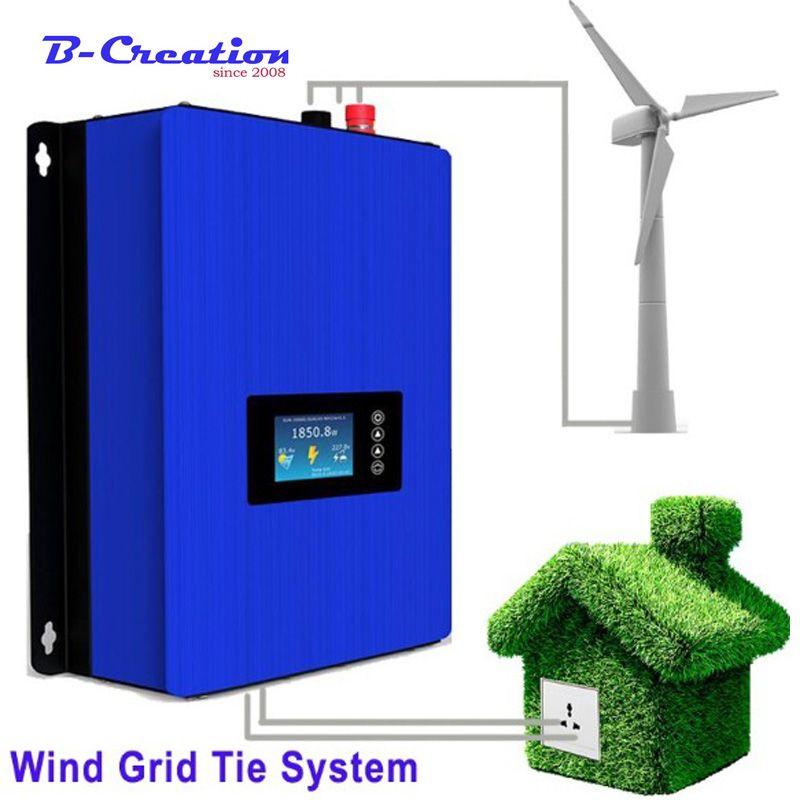 2000 W Windmühle Generator 3 FRP Klingen mit Auf Grid Typ Wind Inverter 240 v 220 v 230vAC Ausgang für haus verwenden Wind Turbine