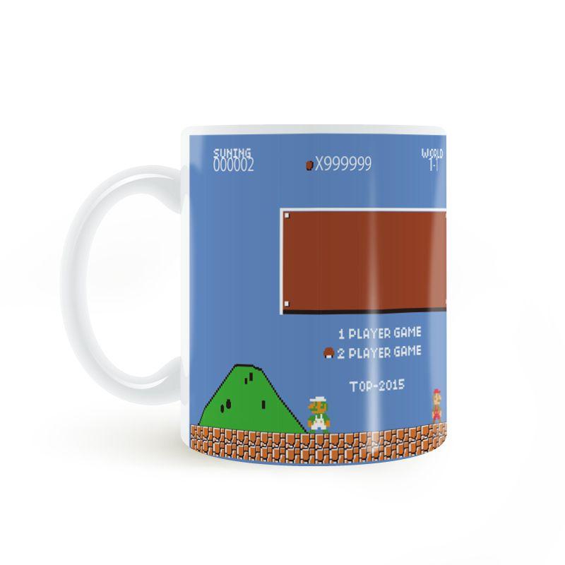 Super Mario jeu Tasse Café Lait En Céramique BRICOLAGE Créatif Cadeaux Home Decor Tasses 11 oz C120