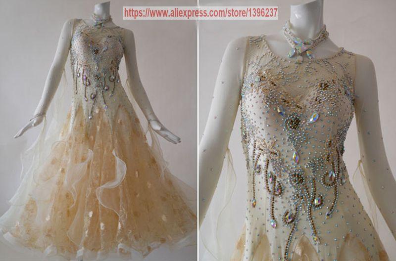 Ballroom Dance Dress Adult 2018 New Design Custom Made Tango Flamenco Waltz Ballroom Competition Dancing Dresses Women