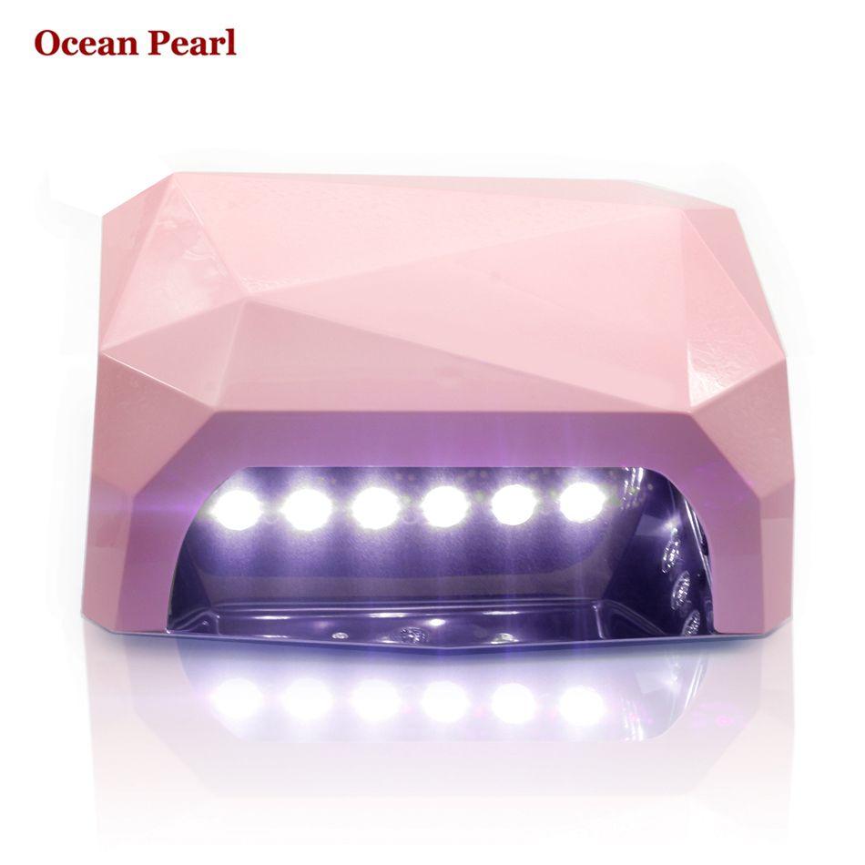 OCEAN PEARL SUN6 AUTO Sensor LED UV Nail Lamp Nail Dryer Diamond Shaped 36W Light 365nm+405nm UV Gel Nails Polish Art Tools