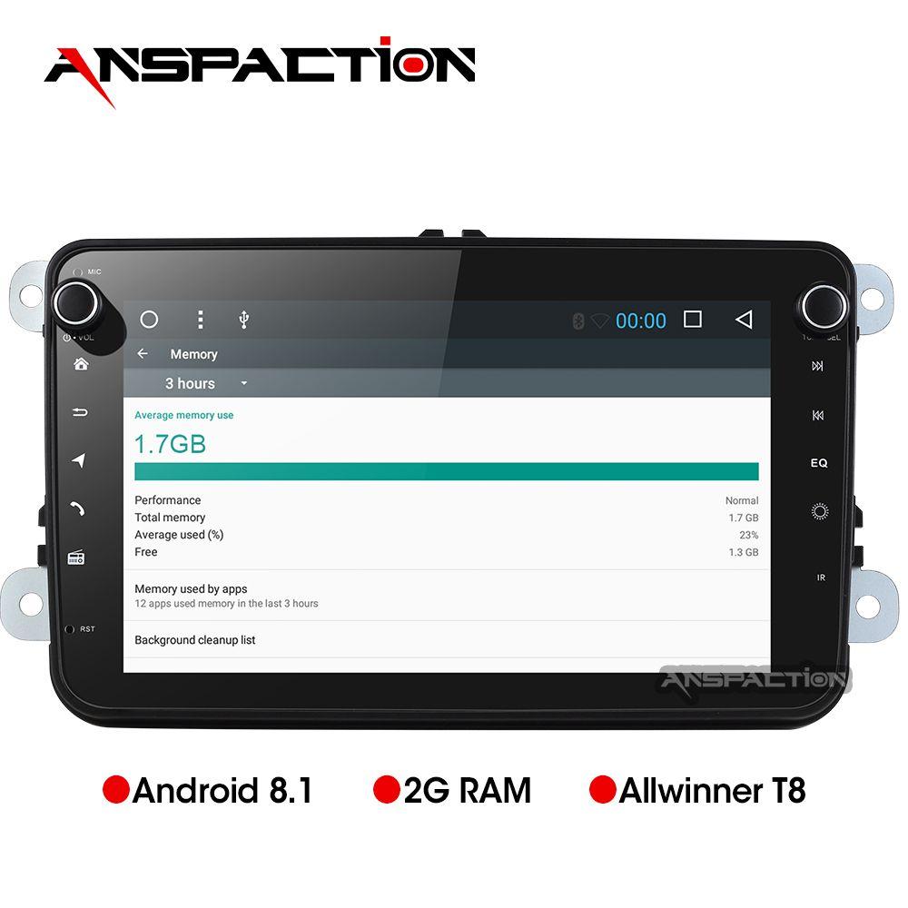 8 Core Auto Multimedia Player Android 8.1 Auto Radio Für Skoda/Sitz/Volkswagen/VW/Passat b7/ POLO/GOLF 5 6 DVD GPS navigation