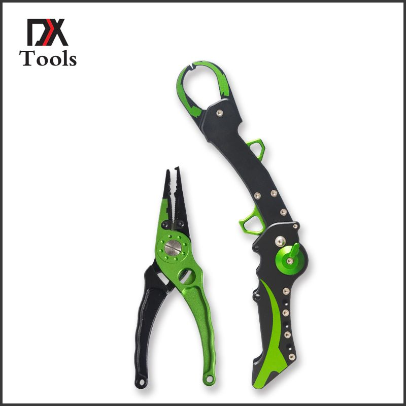 Aluminum Fishing Lip Grip Gripper Folding Equipment Tools Hook Remover Fishing Pliers Line Cutter Scissors Fish Accessories