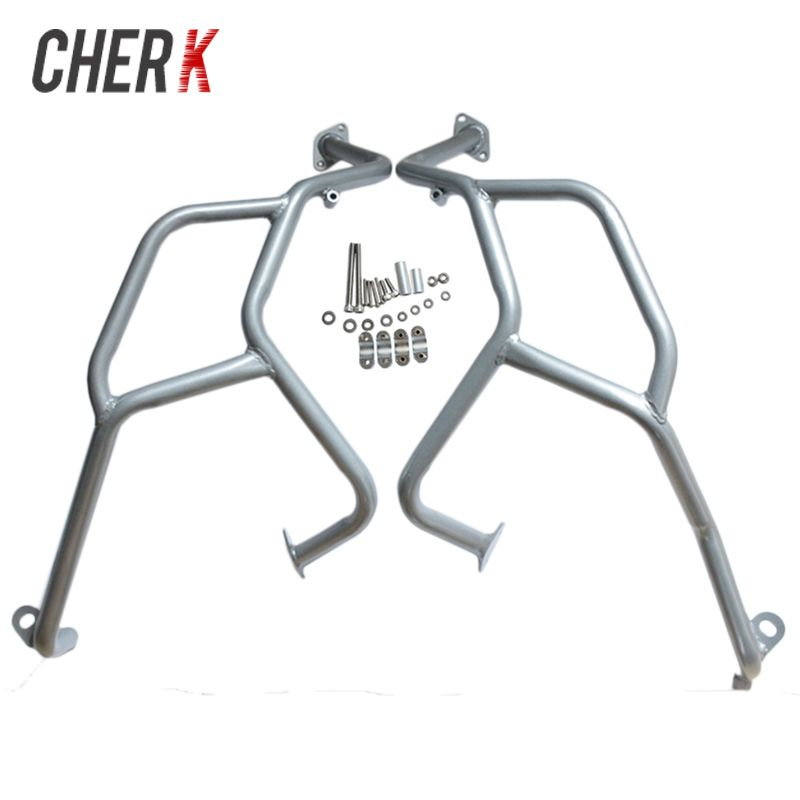 Cherk Sliver Motorcycle Upper Engine Guard Crash Bar Protector For BMW F800GS F700GS F650GS 2008-2017 16 15 14 13 12 11 10 09