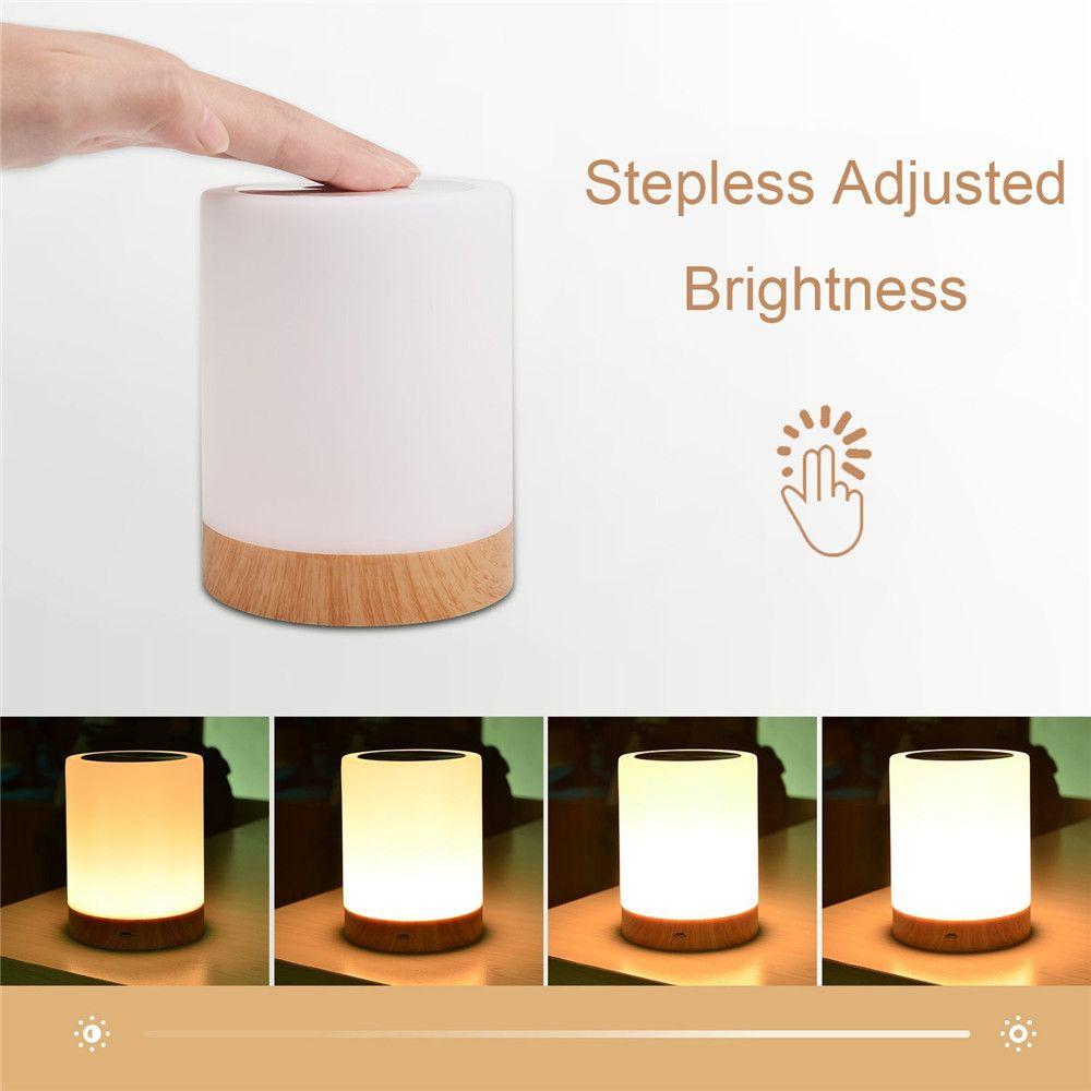 Kmashi Высокое качество touch лампы тумбочка лампа для спальни Гостиная Портативный ночник теплый белый свет rgb Цвет