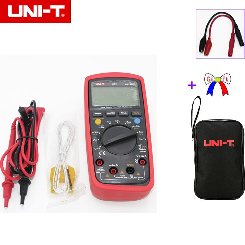 UNI-T UT139C True RMS 3 5/6 LCD Digital Multimeter Electrical Handheld Tester Multimetro LCR Meter Ammeter Multitester with bag