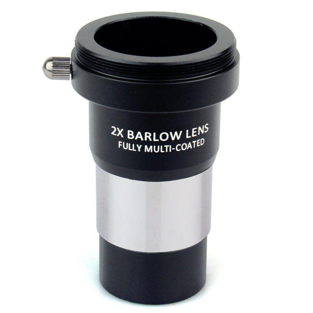 Datyson 1.25 2x Barlow lentille entièrement multi-revêtement en métal avec M42x0.75 filetage caméra connecter l'interface pour les oculaires de télescope