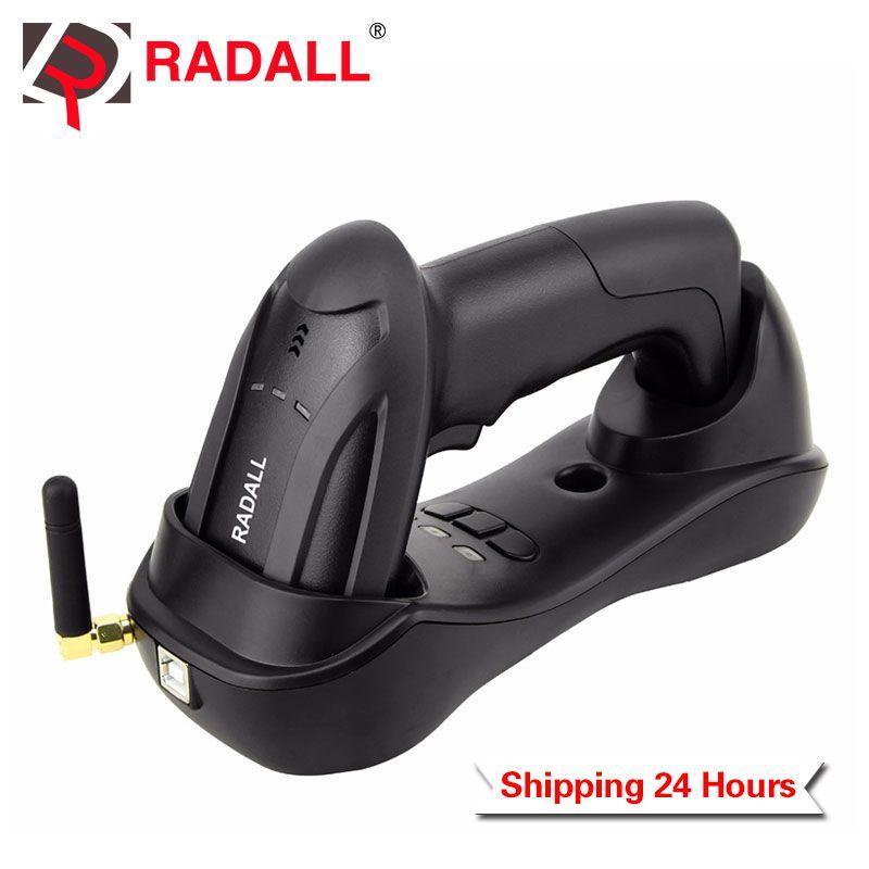 Lecteur de codes à barres CCD sans fil portable sans fil Charge facile et imprimante d'étiquettes thermique Bluetooth 58mm pour magasin d'inventaire POS