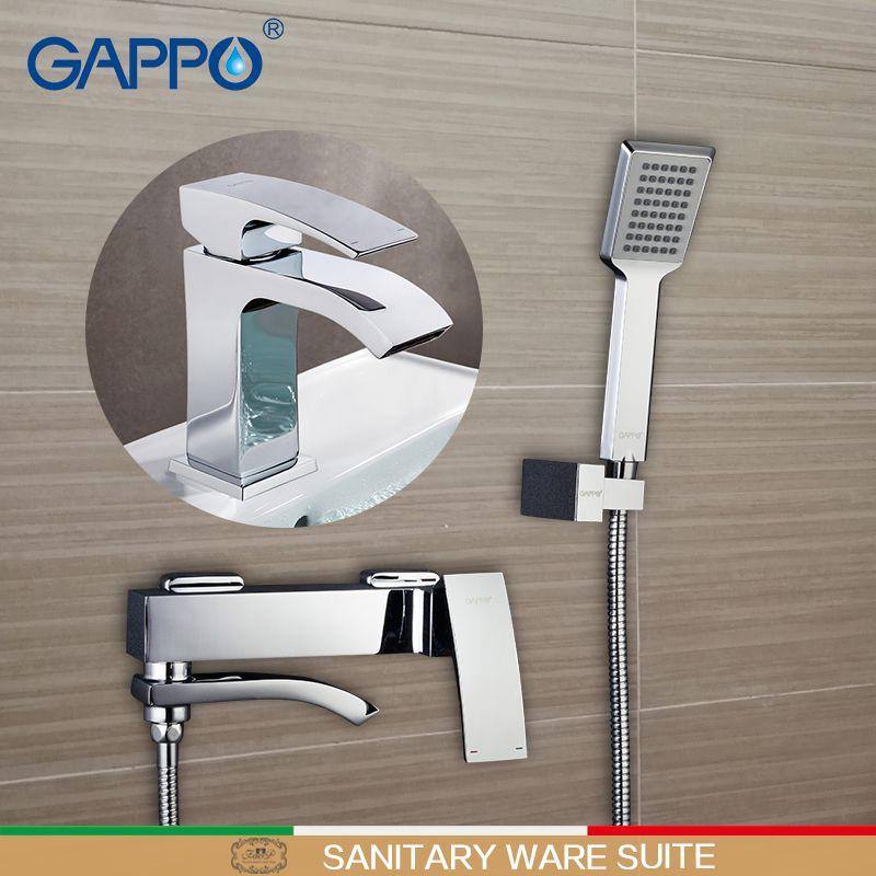 GAPPO Shower Faucets bathtub mixer bathroom shower Faucets tap basin faucet basin sink water mixers shower set Sanitary Ware Sui