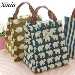 Xiniu lona bolsa de almuerzo Paquete de aislamiento portátil para las mujeres hombres niños bolsa de picnic impermeable bolsa de almuerzo aislada bolsa caja ToteU #1 s