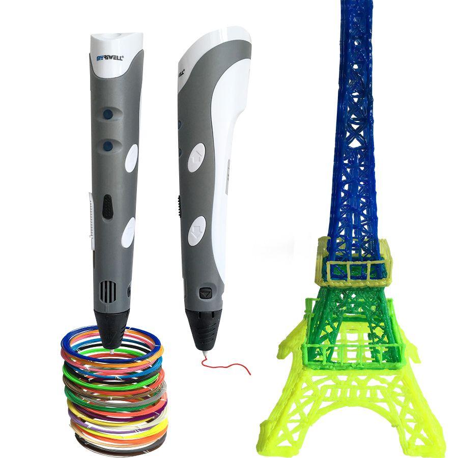 2017 Kindertag geschenk Smart 3D Druck Stift + 3 stücke 10 mt Filamente 3D doodle Stift Maker Kreative geschenk Für Kinder Zeichnung Malerei