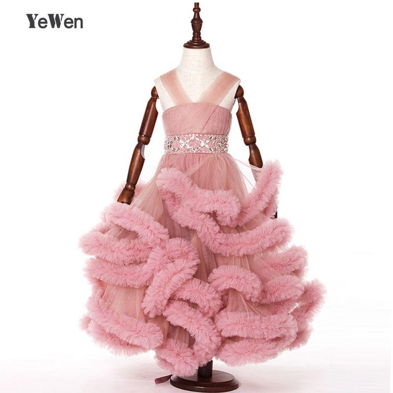Nuage petite fleur filles robes pour les mariages robes de Partie de Bébé sexy enfants images Robe enfants robes de bal robes de soirée 2017