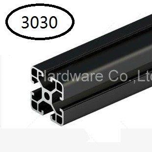 Perfil De Extrusión De Aluminio Perfil De Aluminio negro 3030 30*30 para Haribo Edición MK2 impresora 3D prusa I3