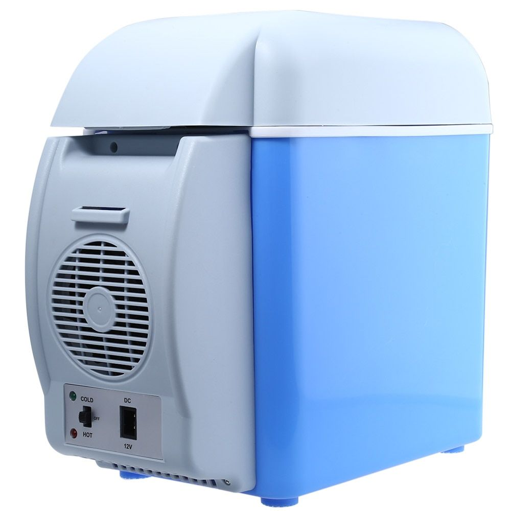 12V Portable Car Refrigerator Cooler Warmer 7.5L Large Capacity Vehicle Electric Fridge Traveling Camping Home Icebox Cooling