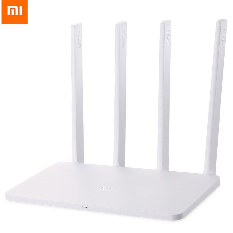 English Version Xiaomi Mi 3C Router 300Mbps 2.4GHz WiFi Routers Signal Booster With 4 Antenna Network For Home Office