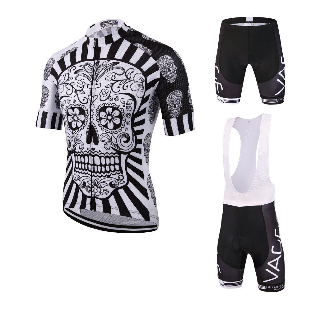 2017 skeleton new men's cycling wear jersey/brand UV protection team cycling clothing/fitness mountain road bike clothing set
