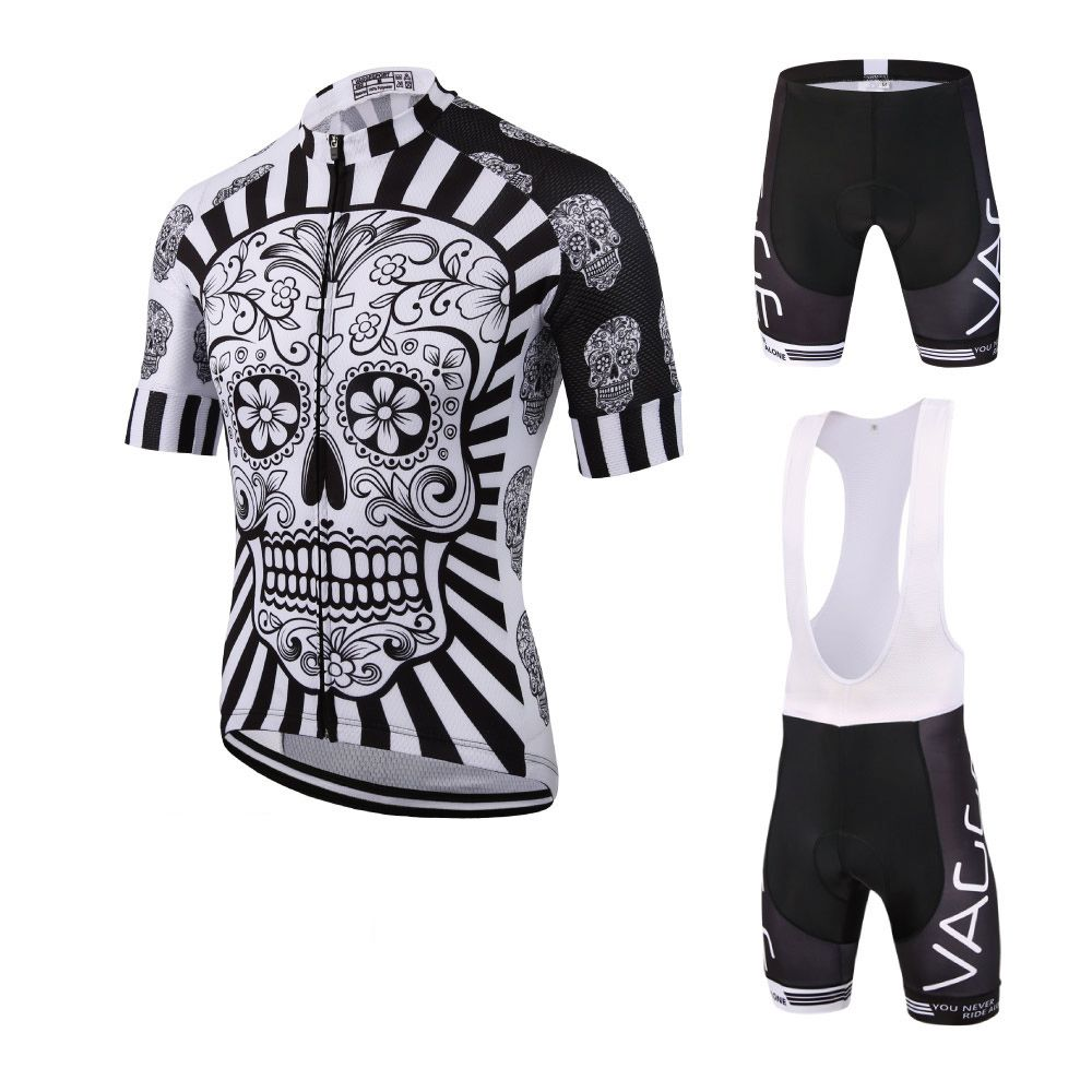 2019 Skeleton Men Cycling Wear Ropa Ciclismo Jersey Set Brand Uv Team Bicycle Clothing Kit Fitness Mountain Road Race Bike Suit
