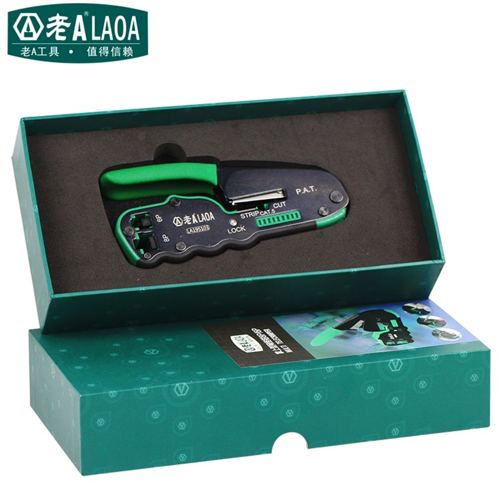 LAOA Networking Tools 6P/8P Network Pliers Portable Multifunctional Cable Wire Stripper Crimping Pliers Terminal Tool Gift Box