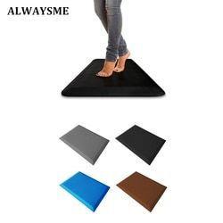 ALWAYSME Standing Desk Anti Fatigue Mat Anti Fatigue Non Slip Comfort Waterproof Kitchen Mat Bathroom Bedroom Anti Fatigue Mat