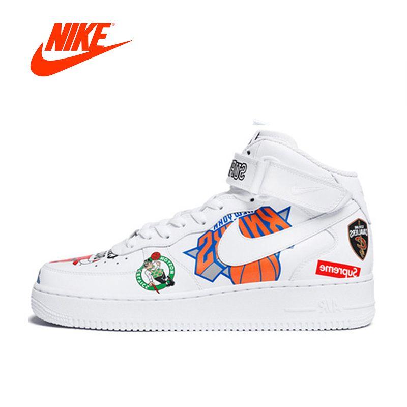 Original Neue Ankunft Authentic Nike Air Force Supreme NBA AF1 Männer Skateboard Schuhe Sport Outdoor Turnschuhe Gute Qualität