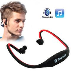 S9 Olahraga Bluetooth Earphone Neckband Nirkabel Bluetooth Headset Stereo Earphone Mendukung FM TF Card Slot untuk Iphone Huawei