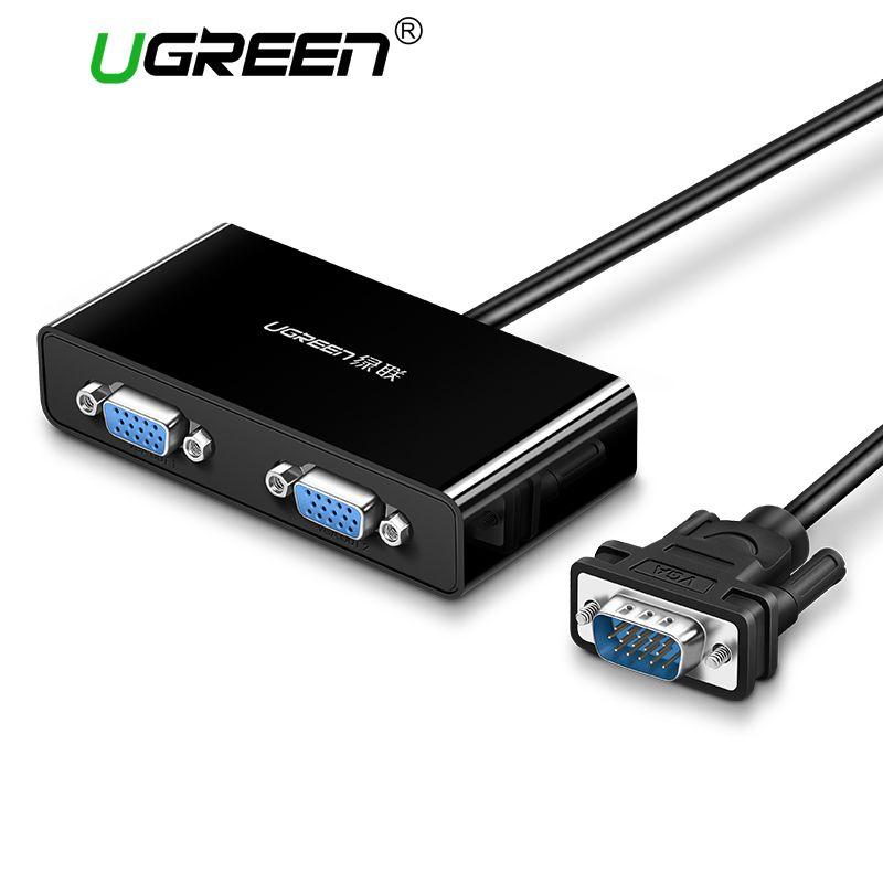 Ugreen 2 Ports VGA Switch Splitter 1920*1440 VGA Stecker auf Zwei Weibliche Splitter Kabel für Laptop Projektor HDTV VGA Splitter