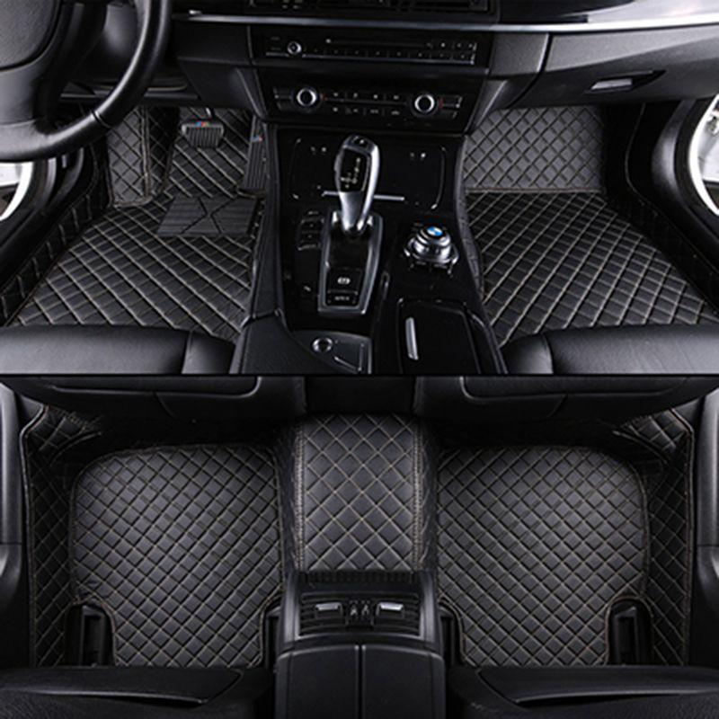 Custom car fußmatten für mercedes w204 alle modelle w205 cla amg w212 w245 glk gla gle gl x164 vito leder auto matten zubehör